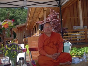 Ajahn Ritthi Thirajitto, who shepherded the meditation hall project over 14 years