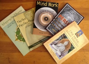 Five books, on Buddhism or inner growth, so far published by Parami Press