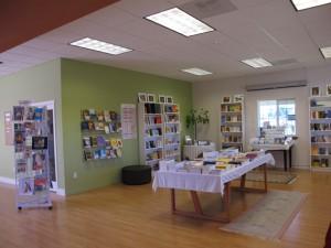 Retail sales area at Pariyatti office in Onalaska.