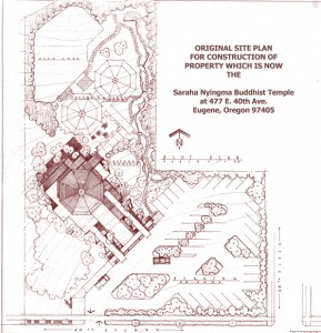 The site plan for the Saraha temple grounds