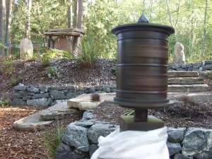 The first custom-built Tibet Tech prayer wheel installed at Earth Sanctuary, on Whidbey Island