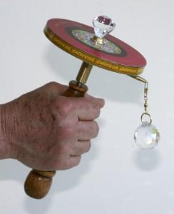 The Tibet-Tech hand-held prayer wheel sending prayers