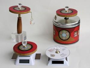 The Tibet Tech prayer wheel line includes hand-held, desktop and solar models