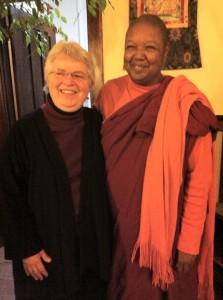 Venerable Pannavati and Tacoma teacher Jude Rozhen