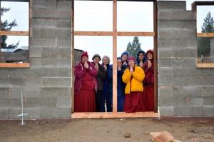 Nuns behind a wall