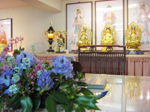 The setting for the seven-day Buddhist retreat
