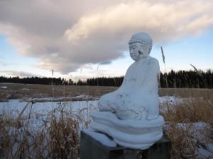 Buddha statue on the marsh