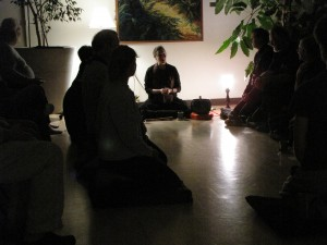 Lee Ann Nail teaching at the Salem Zen Center.