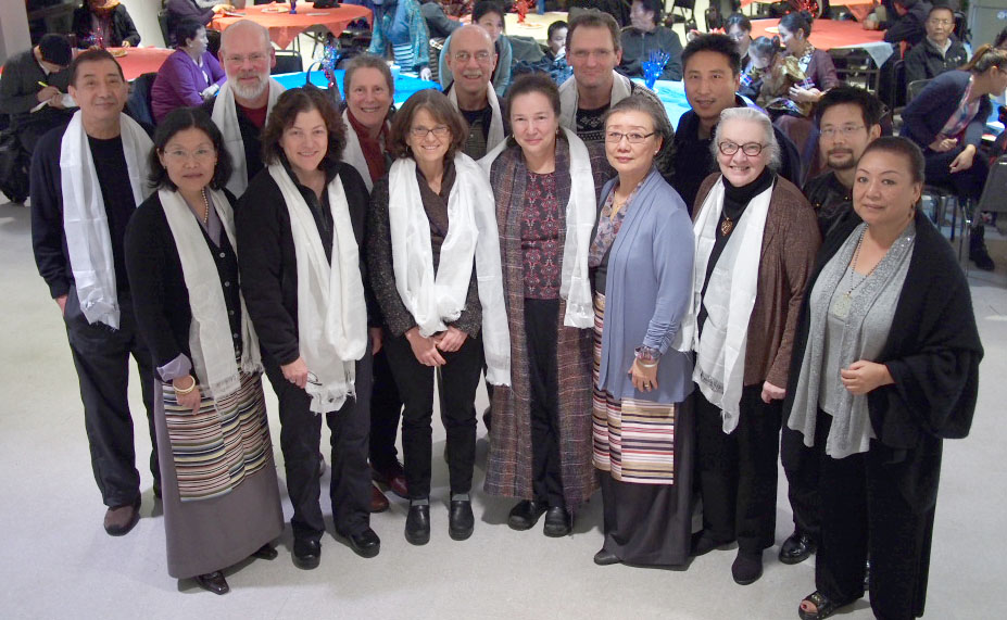 Some of the Tibetan Resettlement Project sponsors gather with board members of the Tibetan Association of Washington.