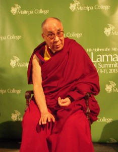 The Dalai Lama told journalists that their role is important, to investigate and communicate reality to people