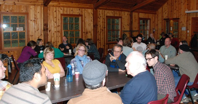Christians and Buddhists gathered for a weekend retreat, at Camp Collins, Ore., funded by a grant from the Association of Theological Schools