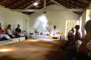 Dharma talk at Nilambe Buddhist Meditation Center in Nilambe, Sri Lanka