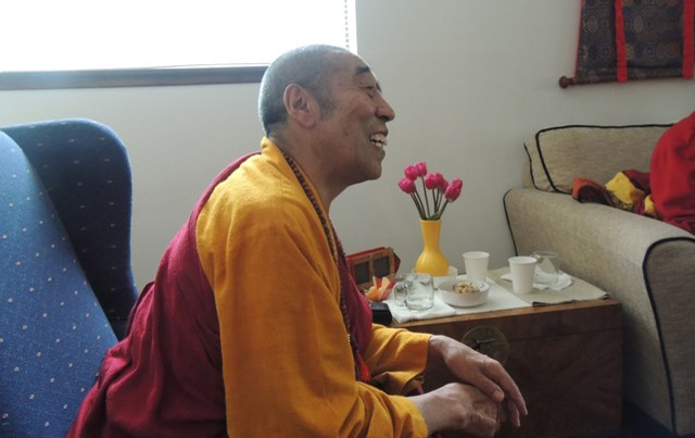 Lama Sonam Tobgyal Rinpoche, during a break in the Seattle teachings.Photos by: Peter Alan Roberts