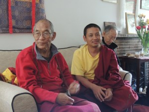 Three distinguished Tibetans attending the teachings