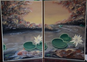 Renzi Lumen painted many works to offer as gifts to guests at WSRU