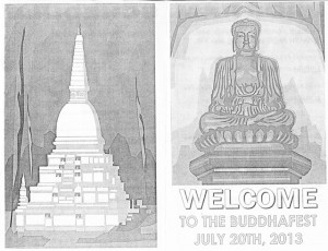 Cover design of the program for the Washington State Reformatory Unit Buddhafest