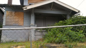 Abandoned homes in Seattle, like this one, perhaps could provide housing for homeless youth