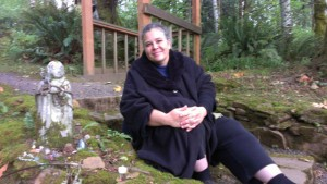 Author Polly Trout, at Cloud Mountain Retreat Center