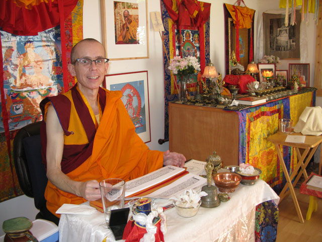 Losang Tenzin Tsering practices, and offers teachings, from his Seattle gonpa, also his home