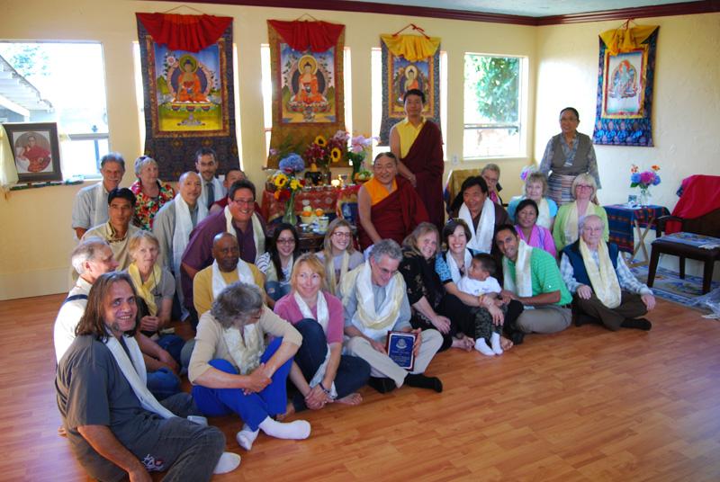 H.H. Sakya Trizin, head of the Sakya school of Tibetan Buddhism, dedicated the new Nalanda Institute hall