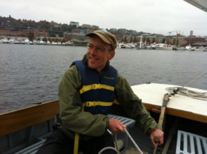 Ilgenfritz at the helm, during a respite in his training
