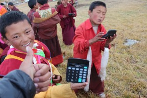 A gift of calculators brings happiness to the students