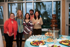 At the 2011 auction, some of the board members (from left) Aimee Ford, Michele Thomson, Wendy Wong, Sean Caras and Yuko Caras