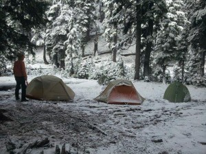 Camp on final morning