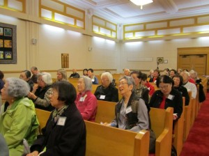 Attendees at Rev. Nishiyama's session