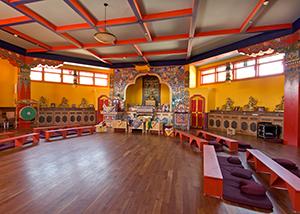 The shrine room at Tara Mandala
