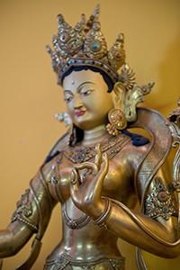 A statue of Tara, the female meditational deity of active compassion