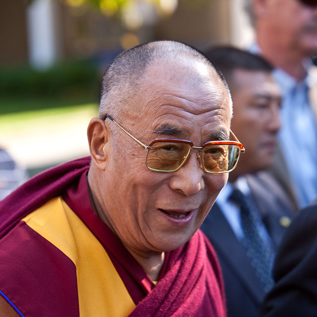 The Dalai Lama arriving at the Vancouver events, 2009