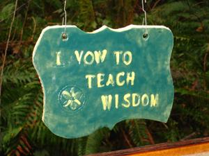 A vow of wisdom