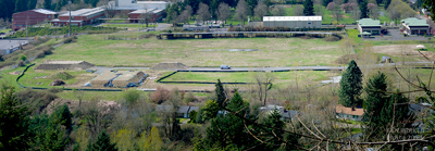 A view of the site. The Householder Refuge will be in the far lower right of the photo