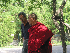 His Holiness with Victor Chan, who co-founded the Dalai Lama Center for Peace and Education