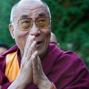 His Holiness extends blessings, during his 2009 visit to Vancouver