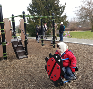 Tivon takes a quiet moment at the park, during the first meeting of the BCIMS family group