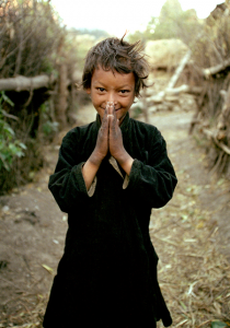 The photo that started this odyssey for Phil Crean and Cora Edmonds. It's called  Namaste Boy, and is a photo of Gyeni Bohara in 2000 about 6 years old, in Simikot, Nepal
