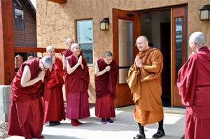 Abbey nuns say farewell to Abhayagiri Abbot Ajahn Passano