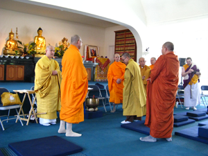 Monks bow