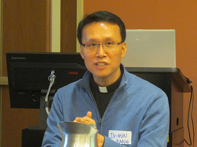 In his remarks Dr. Kang In-gun, a Korean-born Jesuit scholar, demonstrated values shared by Buddhist and Christian traditions