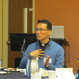 Kang In-gun, who has degrees in Buddhist and Christian studies, makes a point