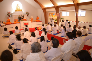 Ordination day at the Seattle Meditation Center in Mountlake Terrace, Washington
