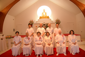 The ordinants' families and friends gather with them on ordination day