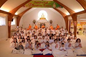 The entire congregation at Seattle Meditation Center