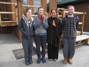 A few of the resident stewards who took care of Birken Forest Monastery during Ajahn Sona's retreat