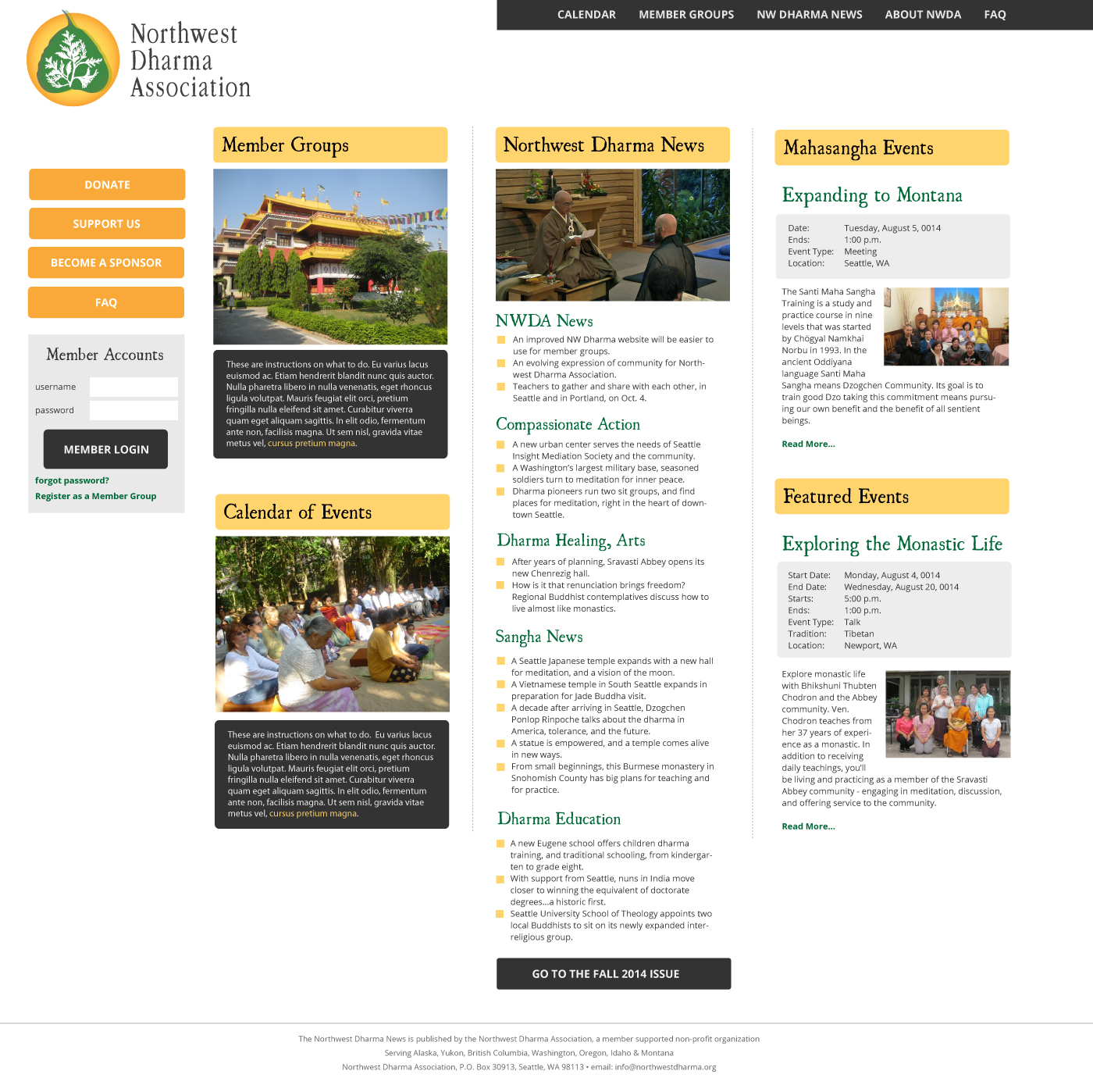 An improved NW Dharma website