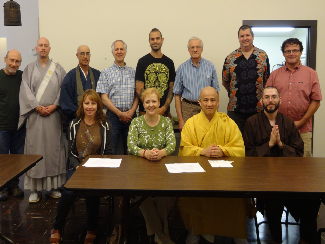 Teachers and the Northwest Dharma Association board gathered at Seattle Koyasan Temple