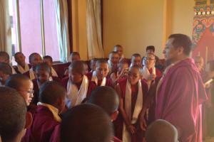 Rinpoche with anis at Trekchokling Nunnery, Kathmandu, Nepal