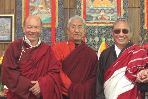 Saraha founding teachers Lama Sonam Tsering, Lama Tsering Gyaltsen and Lama Tharchin Rinpoche
